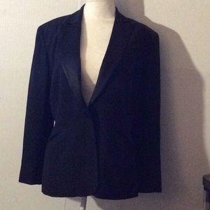 Ann Taylor black L/sleeves career blazer # 4